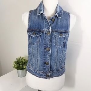 American Eagle Outfitters Distressed Denim Vest M